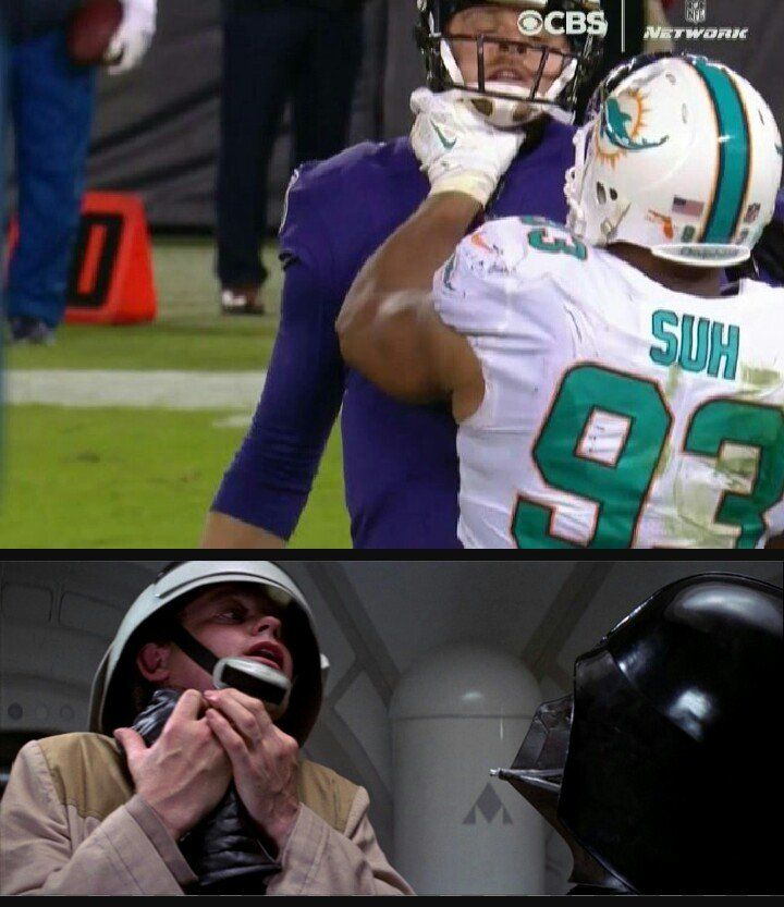 awesome Suh doing his best Vader impression on Thursday Night Football