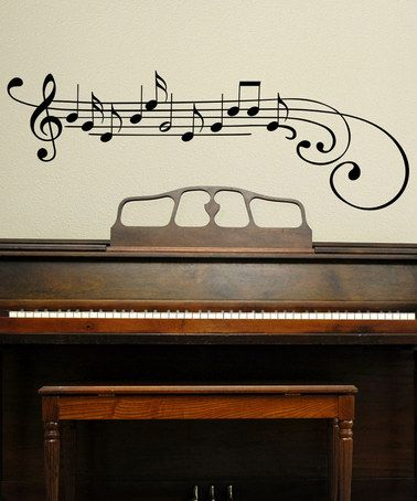 Music wall vinyl. I MUST have this for above my piano!