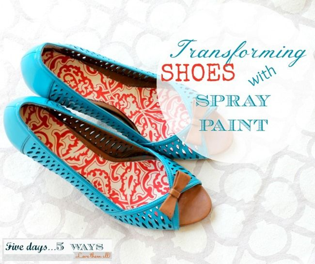 Five Days... 5 Ways: Try-it Tuesday: How to Spray Paint Shoes