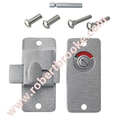 selling partition slide bolt latch windicator cast stainless steel for over 35 years your one stop shop for all bathroom hardware partitions - Bathroom Stall Hardware
