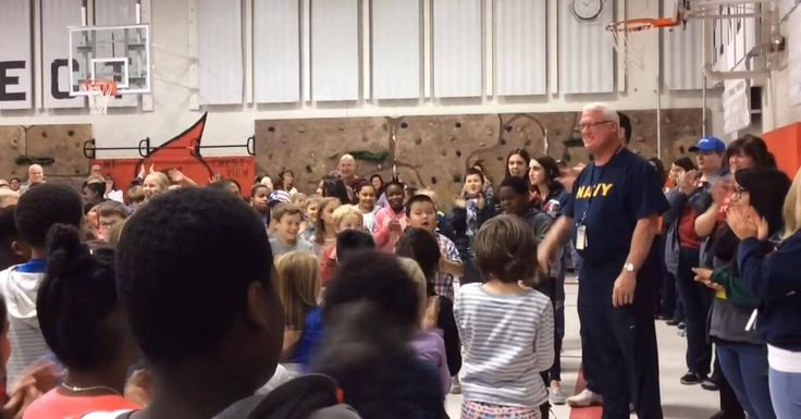 Mark Haesly, a U.S. Navy veteran who served his country from 1974 to 1980 but now teaches physical education at an elementary school in Minnesota, received the surprise of a lifetime from his students last Friday, a day before Veterans Day. As Haesly arrived at Crestview Elementary School's auditorium, where a red carpet had been…