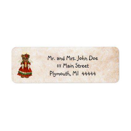 #Country Pine Christmas Address Label - #Xmas #ChristmasEve Christmas Eve #Christmas #merry #xmas #family #kids #gifts #holidays #Santa