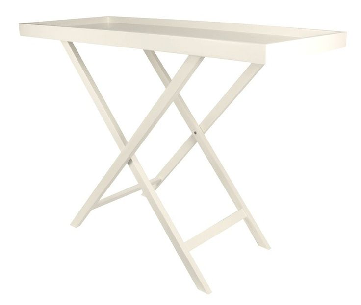 A bridge between simplicity and sophistication, our Butler Tray Furniture Collection takes the folding cross leg table to a new level. Available in either lacquer black or white finishes, this modern classic translates effortlessly into city or coastal decors. NB: Due to this product being an imported item please allow 45 days for delivery to Australia