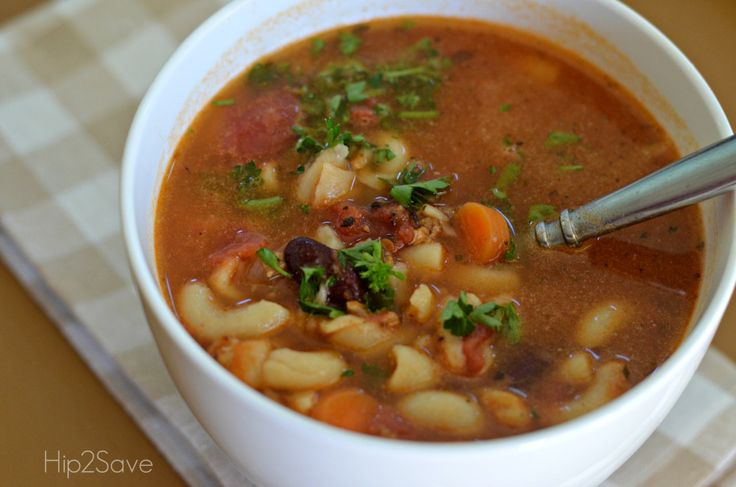 Hip2Save Pasta Fagioli Soup Recipe