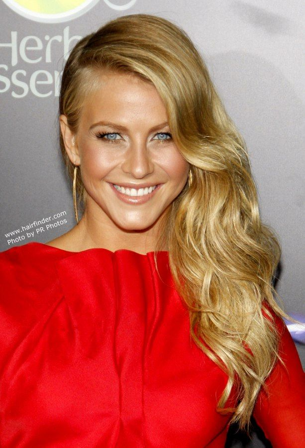 love this look long wavy hair pulled to one side