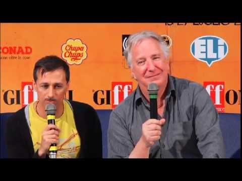 "Alan refers to Rima as ""my wife"" in response to a question about JK Rowling's new books. Rima thinks they're ""terrific"" but he hasn't read them. :)  Giffoni Press Q&A, 23 July 2014."