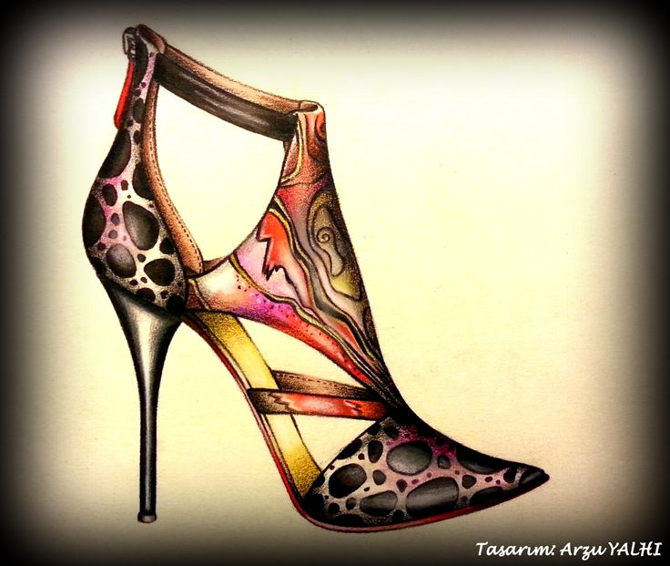 Facebook: ARZU YALHI Drawing Your Shoes
