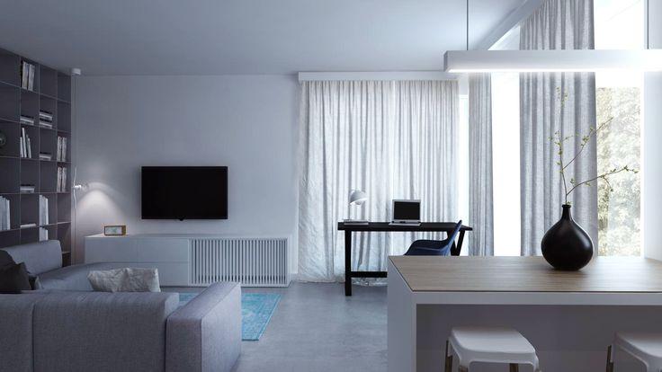 #living room #kawalerka #biale wnetrze monikaskowronska.pl