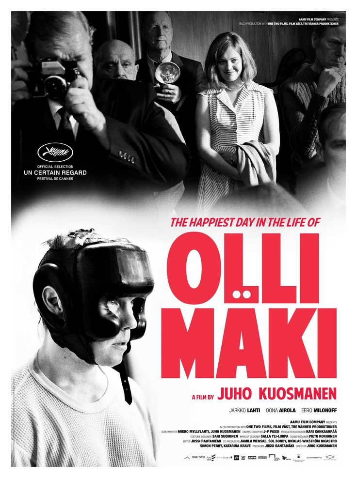 Hymyilevä mies (The Happiest Day in the Life of Olli Mäki) by Juho Kuosmanen. #Cannes2016 Un Certain Regard.  Poster.