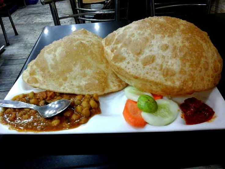 Chole bhature Chole bhature is a an all time favourite Punjabi dish. Choley bhature can be eaten in breakfast as well as in lunch. Chole bhature is a combination of chickpea curry served with deep fried flour pooris.
