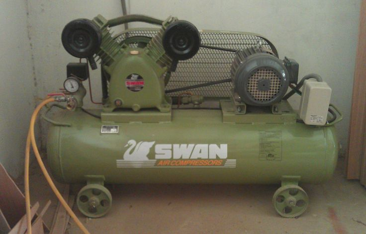 3hp Swan double piston compressor, 355ltr/min.