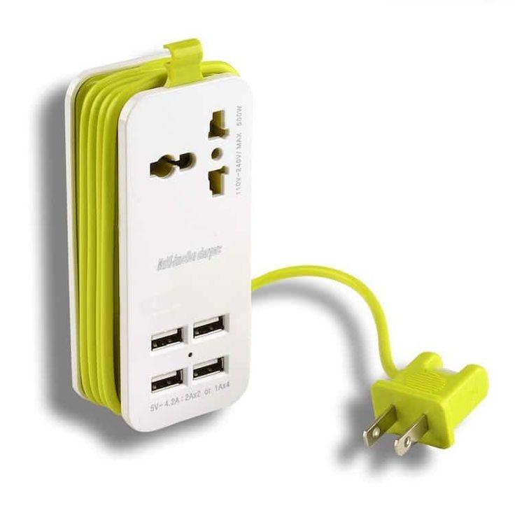 Universal Socket Travel Portable Power Strip  AGPTEK | $13.99