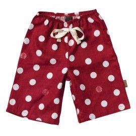 Zebi Baby Red Dot Linen Lounge Pants