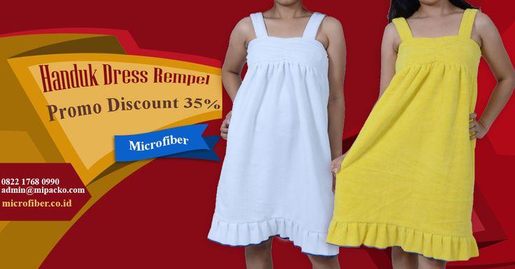 Handuk Dress Rempel, Handuk modern model dress yang bisa di pakai di berbagai penggunaan, setelah mandi, setelah berenang, setelah sauna, Yuu pesan sekarang mumpung DISKON !