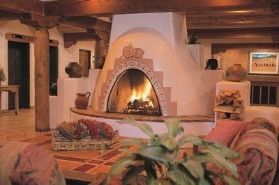 Hotel Santa Fe and Hacienda Fireplace