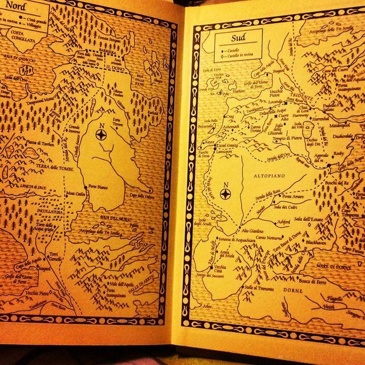 Nord e Sud. Lupi e Leoni.  E qualche drago.                   #gameofthrones #martin #georgemartin #tronodispade  #goodnight #night #books #bookporn #bookstagram #bookphotography #collection #nerd #nerdy #nerdgirl #instadaily #boxset #nicebook #cover #bookworm #librarian #songoficeandfire #palace #fantasy #got #map #bran