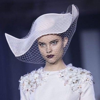 Stephen Jones millinery for Ralph  Russo - Haute Couture A/W 2014.