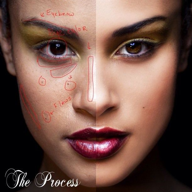 photoshop retouching process