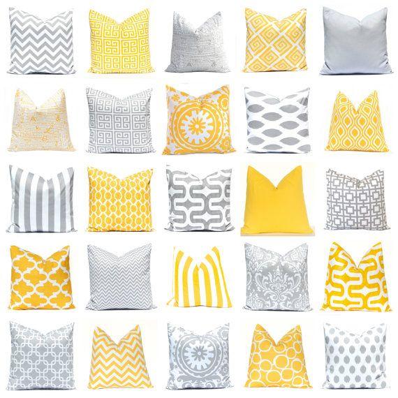 Decoratieve kussen dekt  gele kussenslopen  door CompanyTwentySix