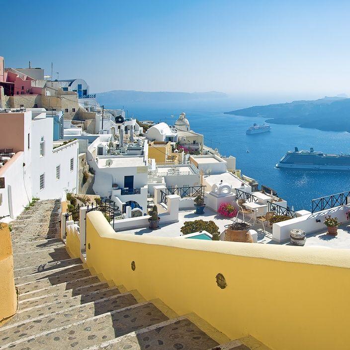 VISIT GREECE| Amazing view in #Santorini #visitgreece #greece