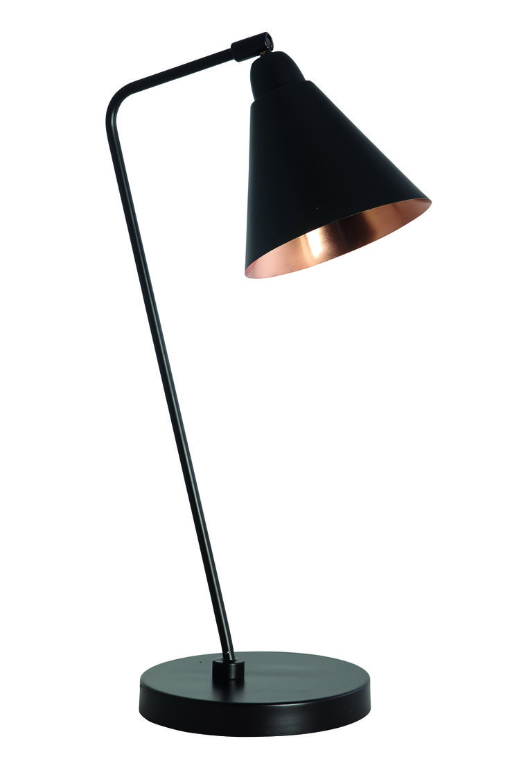 Area Black & Copper Table Lamp, £195, alexanderandpearl.co.uk