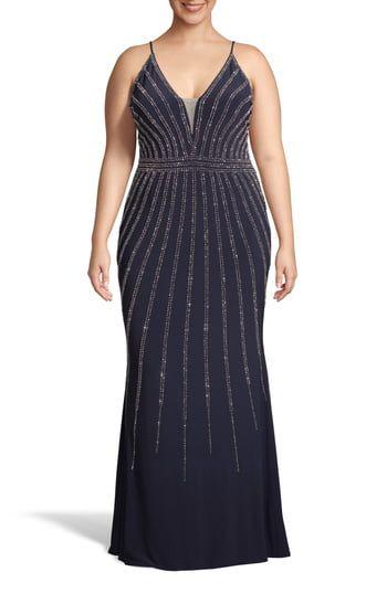 New Xscape Beaded Evening Dress (Plus Size) online