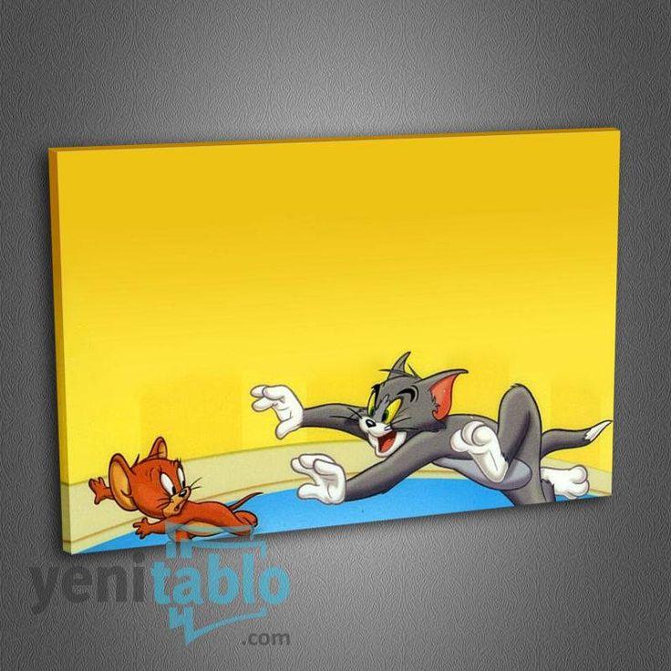Çocuk Odası Kanvas Tablo http://www.yenitablo.com/kanvas-tablo-galerisi/cocuk-odasi-kanvas-tablolari/co9-tom-ve-jerry-tablo
