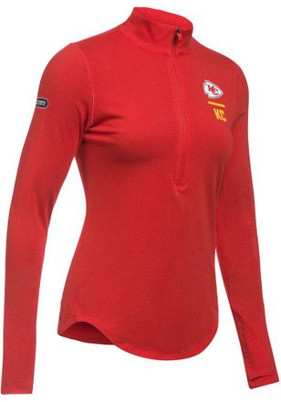 50a0405cb96 Under Armour Kansas City Chiefs Womens Combine Authentic Favorite Red 1 4  Zip Pullover