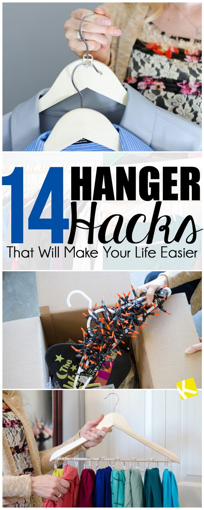 """Turning your hangers backwards, so that..."" = GENIUS!  Cred - Krazy Koupon Lady, 14 Hanger Hacks That Will Make Your Life Easier"