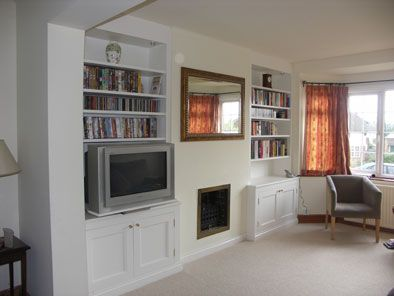 alcove units with pull out TV