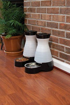 If hydrated pets are happy pets, then PetSafe Healthy Pet Water Station pets are over the moon! These sleek water systems include a veterinary-recommended removable stainless steel bowl and a BPA-free hopper with a flow-control valve that refills the bowl with bottle-fresh water as your pet drinks. The reservoir locks in place to prevent spills, and the wide opening makes cleaning simple as can be. Available in multiple sizes.