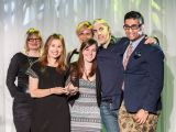 """Grand Prix winners from Saatchi & Saatchi collect their prize for the Tourette Syndrome Foundation of Canada's """"Surrender Your Say""""ATOMIC AWARDS @Airship37 Event Venue"""