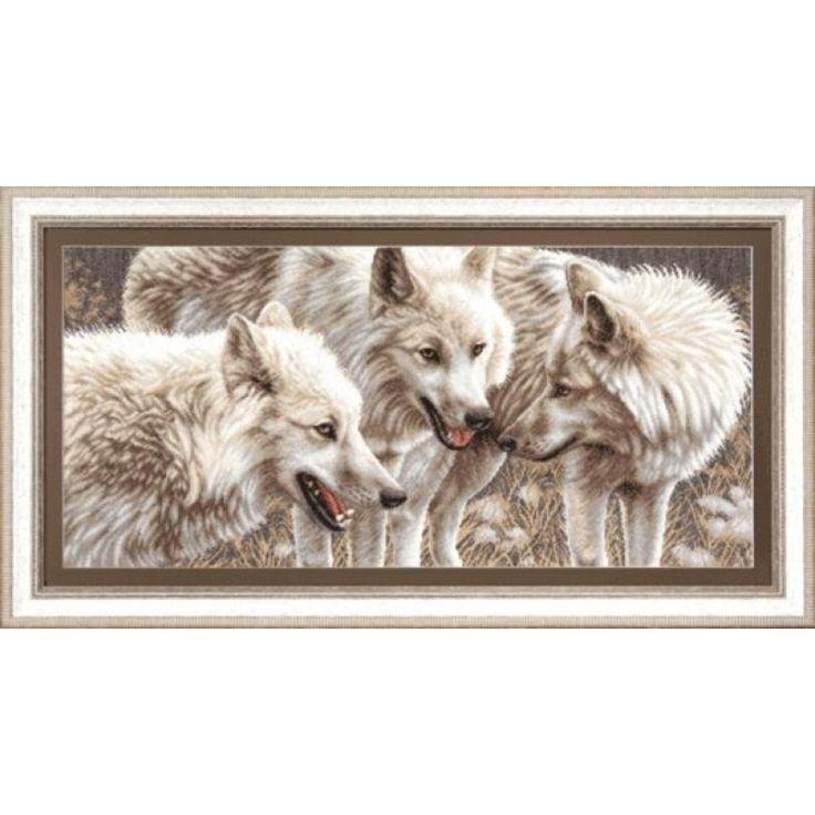 М-126 Белые волки. Чарівна Мить. Набор для вышивания нитками