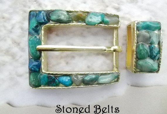 BLUE GEMSTONES from BRAZIL, Womans belt buckle, Silver Belt Buckle, Western Belt Buckle, Belt Buckles for women, Cowgirl Belt Buckle