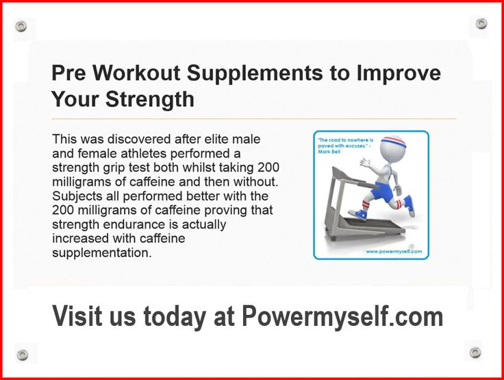 Pre workout supplements significantly increases mental