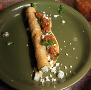 flautas with pulled pork, chicken or tuna