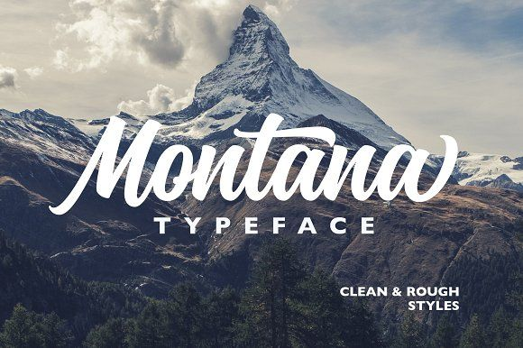 Montana Typeface by Alexcouture on @creativemarket