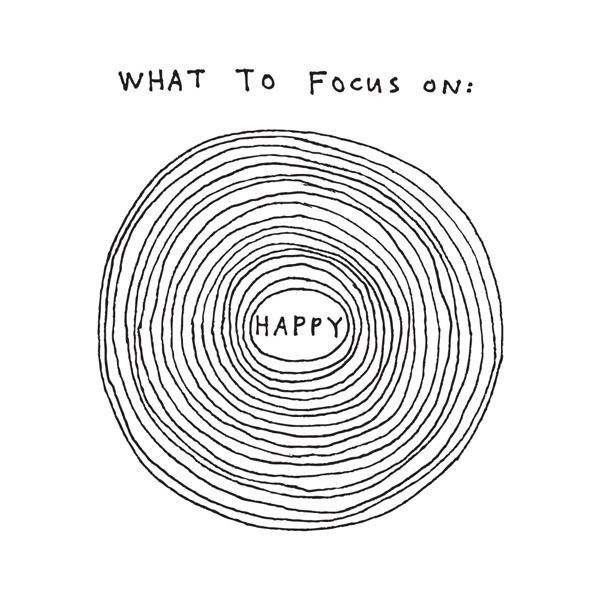 "Focus on happy, focus on happy, focus on happy. These beautifully imperfect concentric circles make clear what you should be worried about - Happy! Focus on happy is sized to fit nicely on your wrist area to so that it serves as a quickie, friendly reminder of what's important. Sheet size: 3"" x 3"""