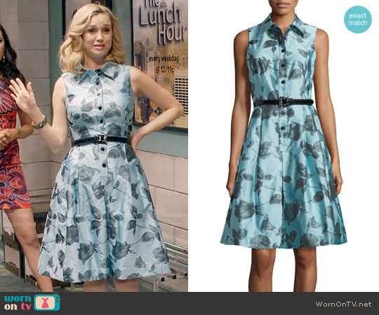Heather's blue rose print shirtdress on Daytime Divas.  Outfit Details: https://wornontv.net/74626/ #DaytimeDivas