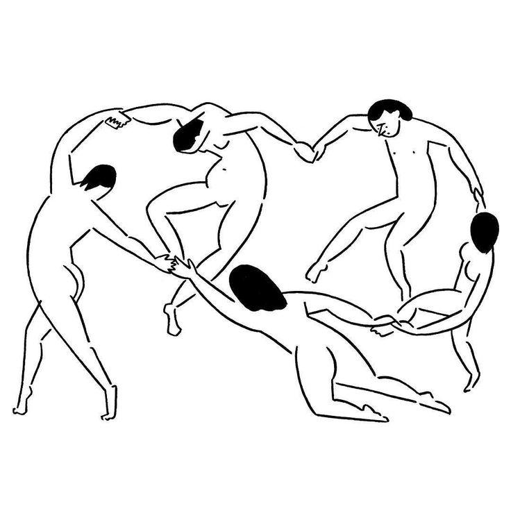 Henri Matisse #HenriMatisse #dance #yunagaba #kaerusensei #長場雄 #art by kaerusensei