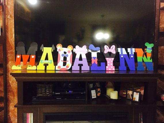 Mickey Mouse Clubhouse Party Name Letters by TheCookieCraftShop