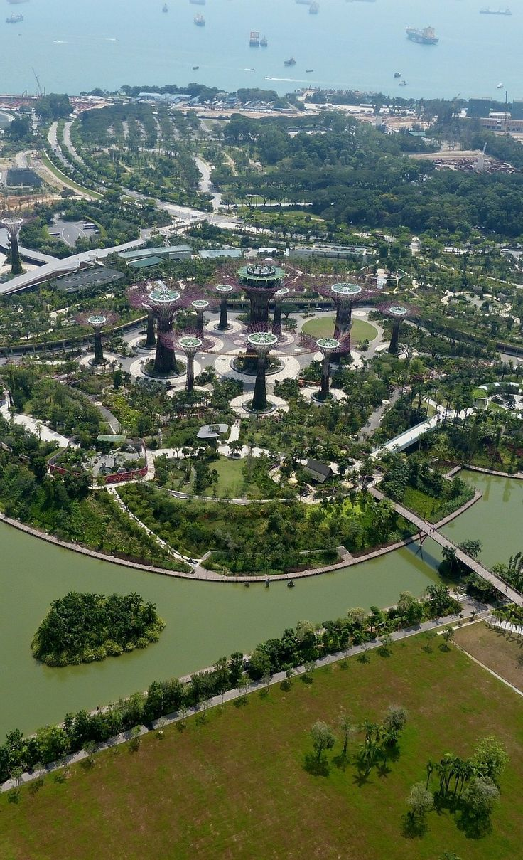 A bird's-eye view of Gardens by the Bay | Singapore Travel Tips