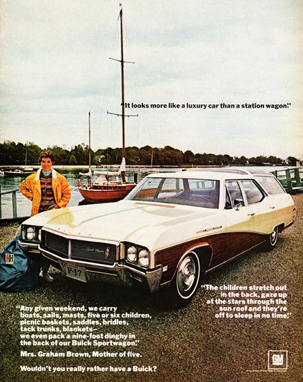 Buick Sport 1968 Six Children Station Wagon. Antique CarsVintage ...