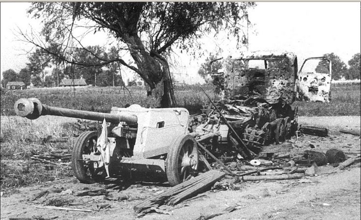 Image result for destroyed german rso tractor