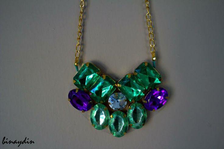 sparkly necklace , shining , sterlingnecklace , diy
