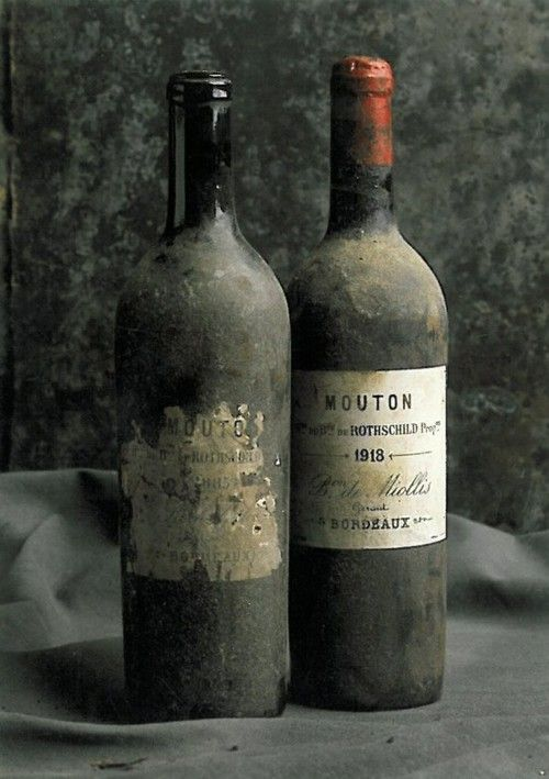 ❦ Vintage Bordeaux:   History for 1918 Baron Philippe de Rothschild Chateau Mouton Rothschild, value 2007- 2012 prices: 1,850.00.