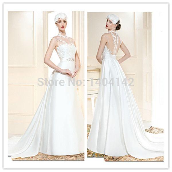 Атлас пляж свадьба платье сад и пляж свадебное платье чехол с низким вырезом на спине женщины официальный платье открытые плечи обычный