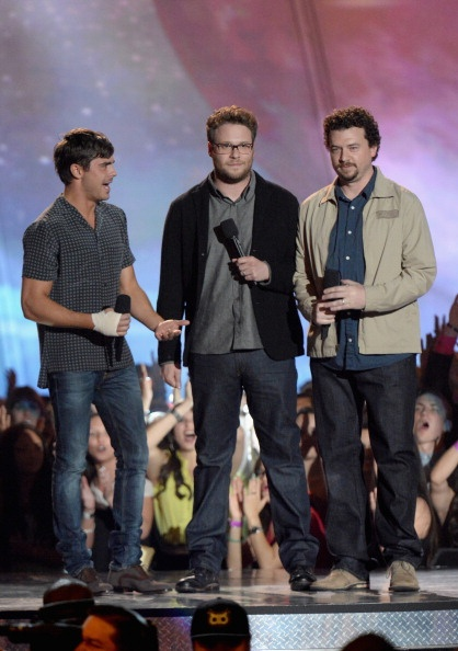 Zac Efron, Seth Rogen & Danny Mcbride presenting at the MTV Movie Awards 2013
