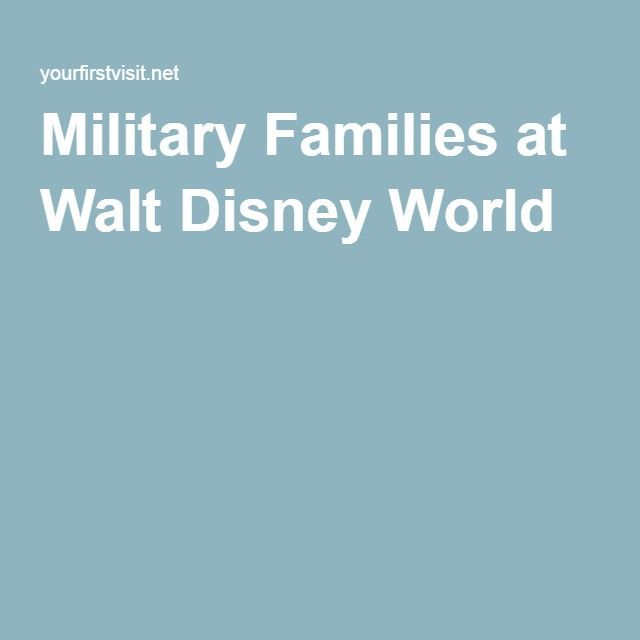 Military Families at Walt Disney World - helpful advice and links from yourfirstvisit.net