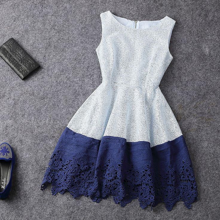 Fashion Hit Color Sleeveless Dress